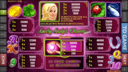 lucky charm lady free game